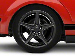 Saleen Style Black Wheel; Rear Only; 19x10 (05-09 GT, V6)