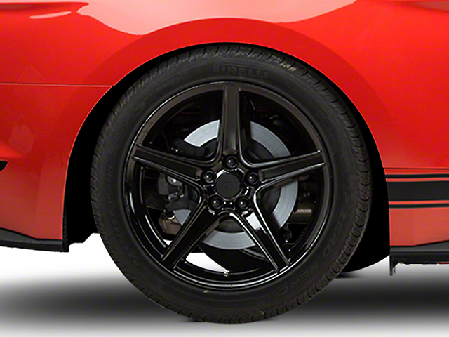 Saleen Style Black Wheel; Rear Only; 19x10 (15-20 EcoBoost, V6)