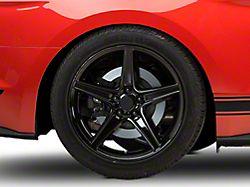 Saleen Style Black Wheel; Rear Only; 19x10 (15-20 EcoBoost, V6)