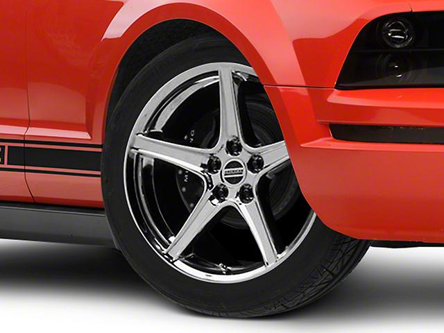 Saleen Style Chrome Wheel; 19x8.5 (05-09 GT, V6)
