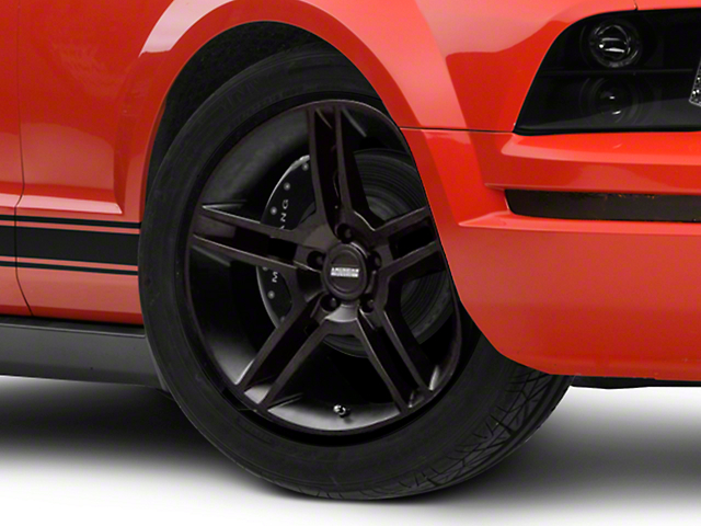 2010 GT500 Style Matte Black Wheel; 18x9 (05-09 All)