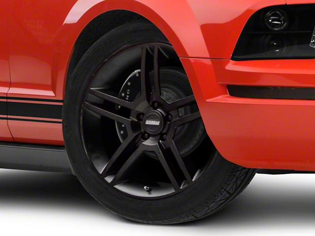 2010 GT500 Style Matte Black Wheel; 19x8.5 (05-09 All)