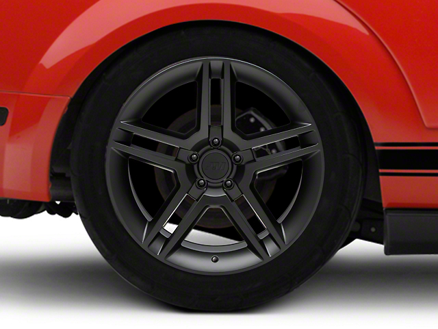 2010 GT500 Style Matte Black Wheel; Rear Only; 19x10 (05-09 All)