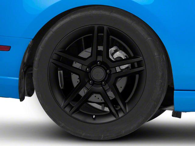 2010 GT500 Style Matte Black Wheel; Rear Only; 19x10 (10-14 All)