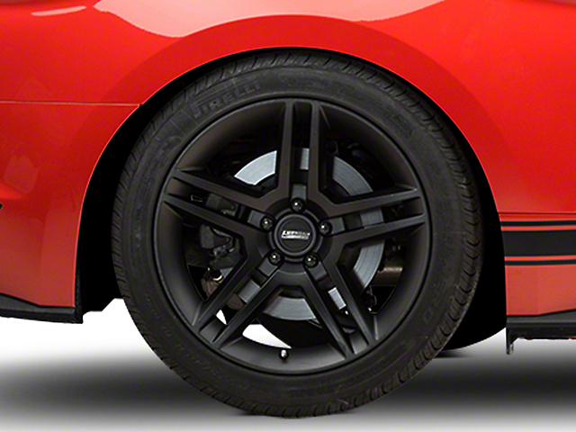 2010 GT500 Style Matte Black Wheel; Rear Only; 19x10 (15-21 GT, EcoBoost, V6)