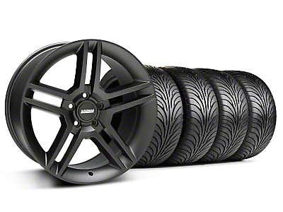 Staggered 2010 GT500 Style Matte Black Wheel & Sumitomo Tire Kit - 18x9/10 (05-14 All)