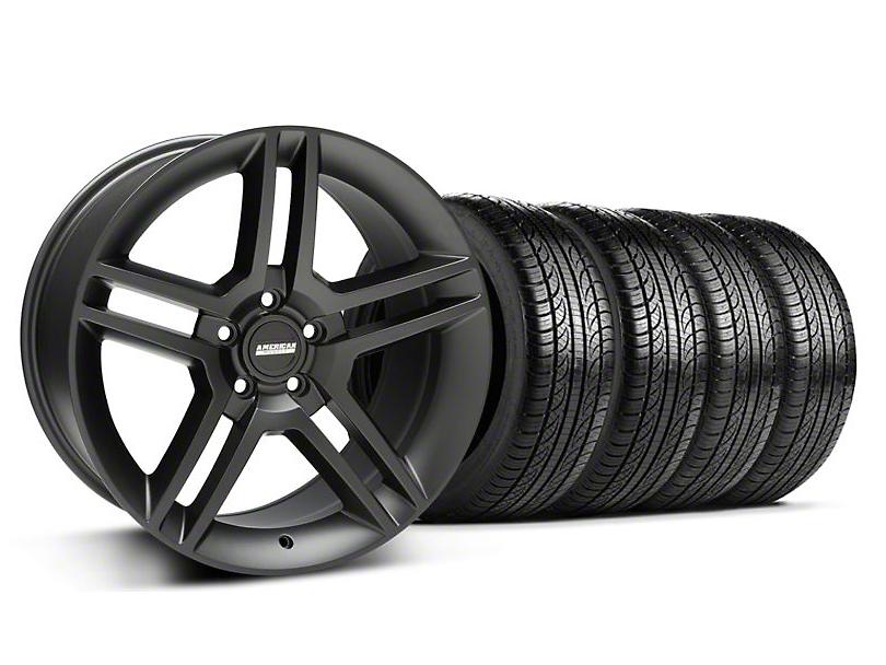 2010 GT500 Style Matte Black Wheel & Pirelli Tire Kit - 19x8.5 (05-14 All)