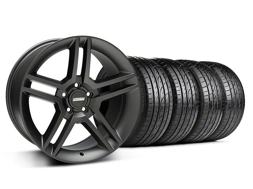 2010 GT500 Style Matte Black Wheel & Sumitomo Tire Kit - 19x8.5 (94-04 All)