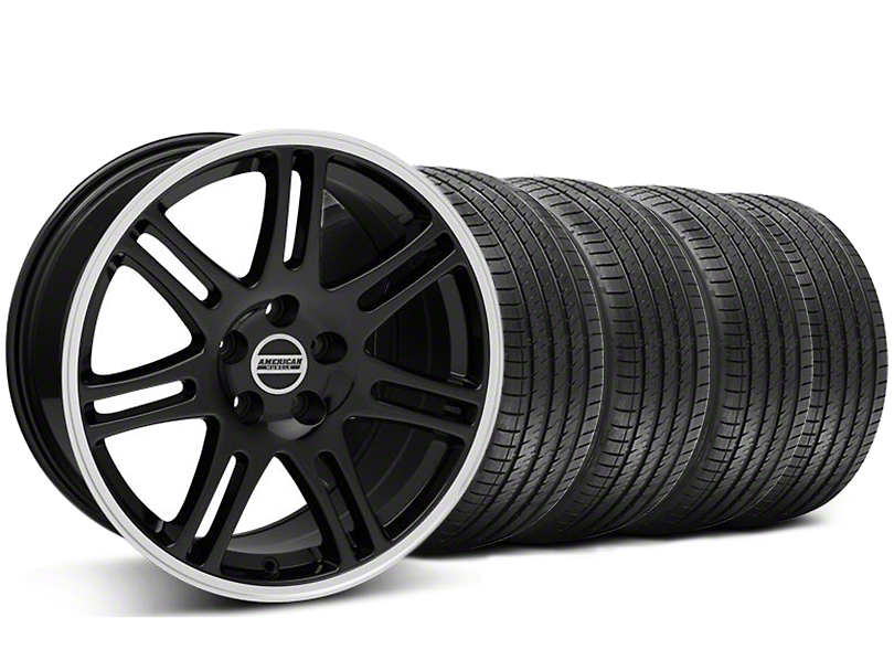 10th Anniversary Cobra Style Black Wheel and Sumitomo Maximum Performance HTR Z5 Tire Kit; 17x9 (94-98 All)