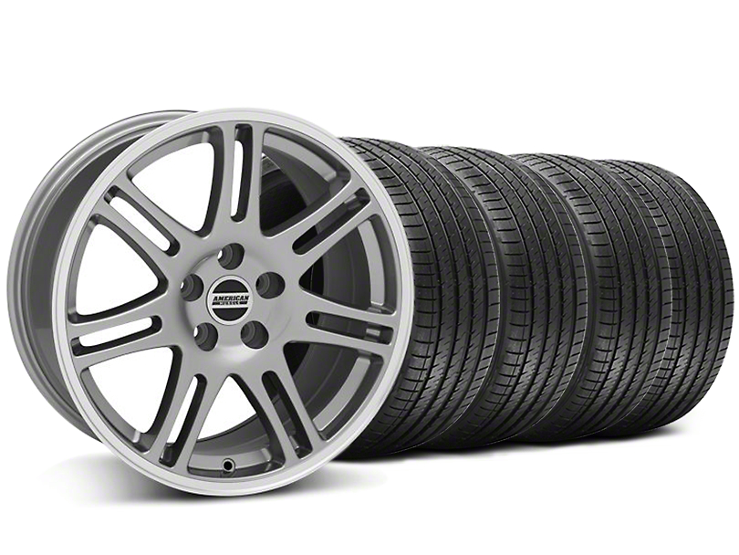 10th Anniversary Cobra Style Anthracite Wheel and Sumitomo Maximum Performance HTR Z5 Tire Kit; 17x9 (94-98 All)