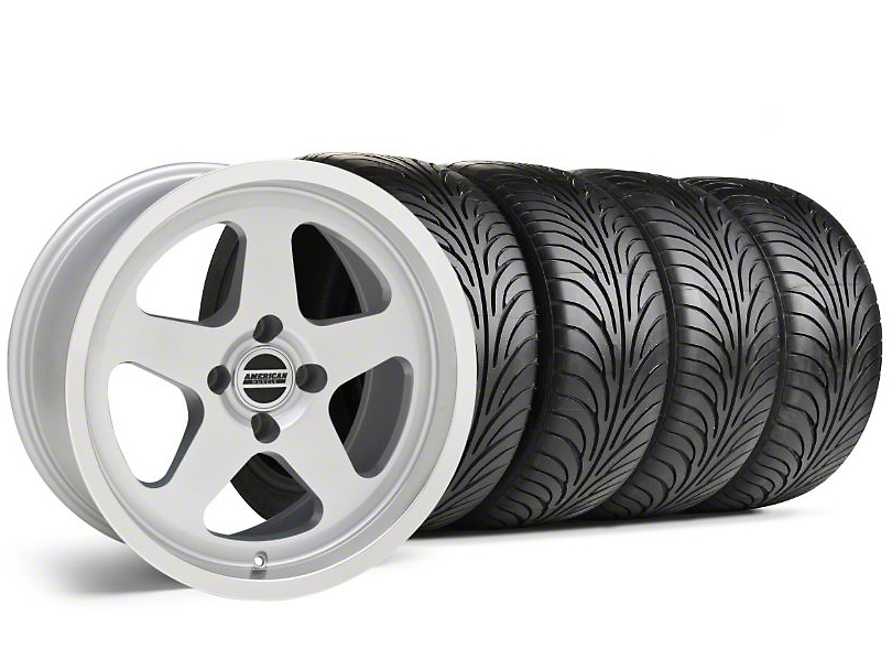 Staggered SC Silver Wheel & Sumitomo Tire Kit - 17x8/9 (87-93 All, Excluding Cobra)