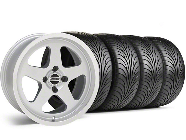 Staggered SC Silver Wheel & Sumitomo Maximum Performance HTR Z5 Tire Kit - 17x8/9 (87-93 All, Excluding Cobra)