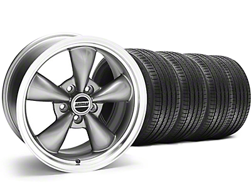 Staggered Bullitt Anthracite Wheel & Sumitomo Tire Kit - 18x9/10 (05-10 GT; 05-14 V6)