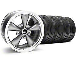 Staggered Bullitt Anthracite Wheel and Sumitomo Maximum Performance HTR Z5 Tire Kit; 18x9/10 (05-10 GT; 05-14 V6)
