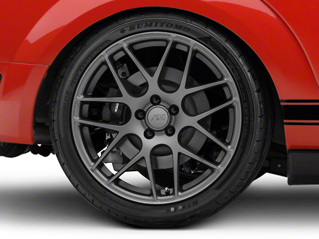AMR Charcoal Wheel; Rear Only; 20x10 (05-09 All)