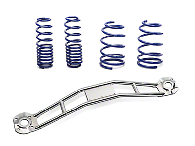 SR Performance Strut Tower Brace & Lowering Spring Kit - Chrome (05-14 GT, V6)