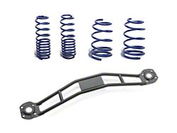 SR Performance Strut Tower Brace and Lowering Spring Kit; Black (05-14 GT, V6)