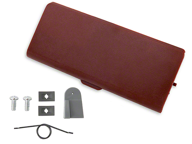 OPR Ash Tray Door and Repair Kit; Red (87-93 All)