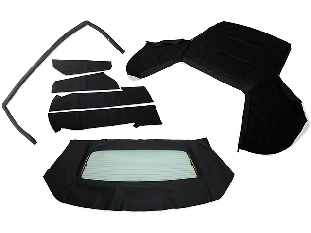 OPR Convertible Top Resto Kit; Black (85-90 Convertible)