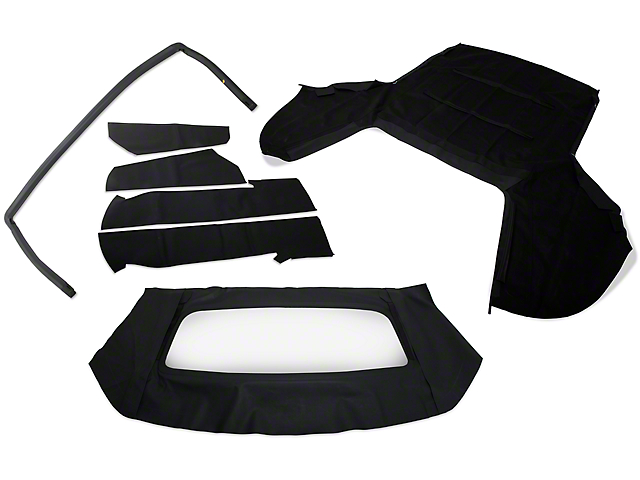 OPR Convertible Top Resto Kit; Black (91-93 Convertible)