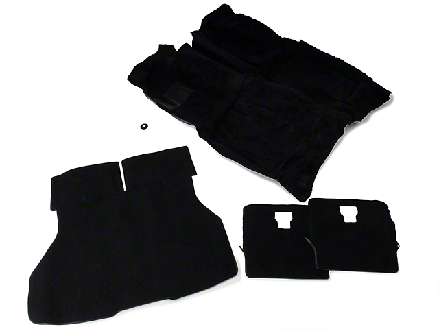 OPR Floor and Hatch Carpet Kit; Black (87-93 Hatchback)
