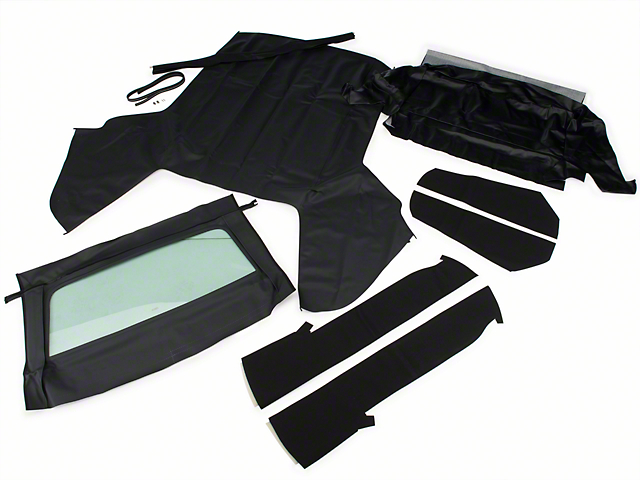 OPR Convertible Top Kit; Black (83-90 Convertible)