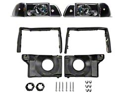 Axial Headlights with Adjusting Plate Kit; Black (87-93 All)