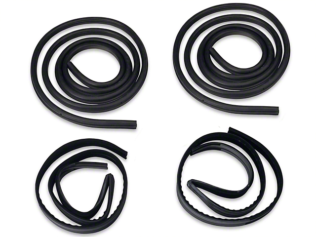 OPR Door To Body & Window Run Channel Weatherstrip Kit (79-93 Coupe, Hatchback)