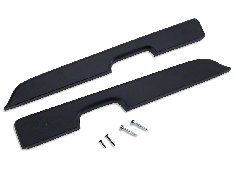 OPR Black Door Armrest Pad Kit - Power Windows (87-93 All)
