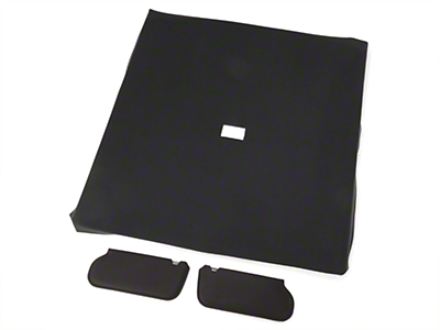 OPR Cloth Sunvisor And Headliner Kit - Black (85-91 Coupe)