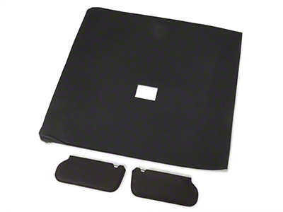 OPR Cloth Sunvisor And Headliner Kit - Black (92-93 Hatchback)