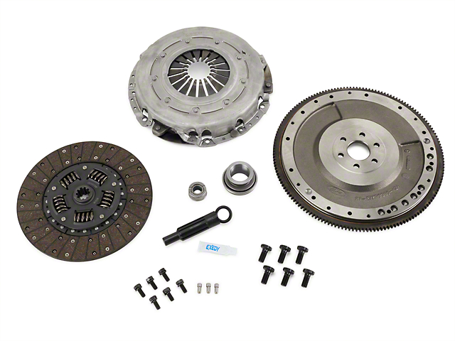 SR Performance Stage 1 Master Organic Clutch Kit with 6-Bolt Flywheel; 10 Spline (86-95 5.0L)