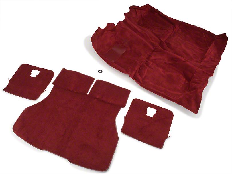 OPR Floor and Hatch Carpet Kit - Red (87-93 Hatchback)