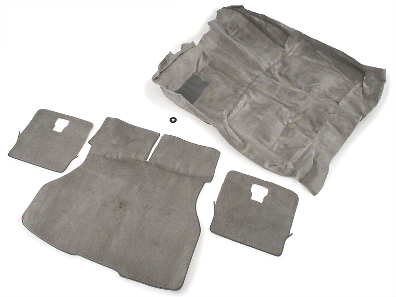 OPR Floor and Hatch Carpet Kit; Titanium Gray (90-92 Hatchback)