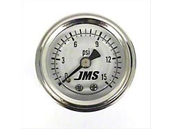 JMS Fuel Pressure Gauge; 0-15 PSI (Universal; Some Adaptation May Be Required)