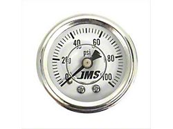 JMS Nitrous Pressure Gauge; 0-100 PSI (Universal; Some Adaptation May Be Required)