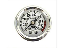 JMS Nitrous Pressure Gauge; 0-1500 PSI (Universal; Some Adaptation May Be Required)