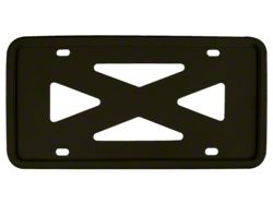 Blank 4-Hole Wide Rail Silicone License Plate Frame; Black (Universal; Some Adaptation May Be Required)