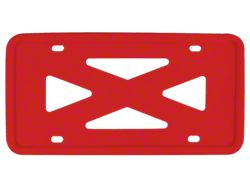 Blank 4-Hole Wide Rail Silicone License Plate Frame; Red (Universal; Some Adaptation May Be Required)