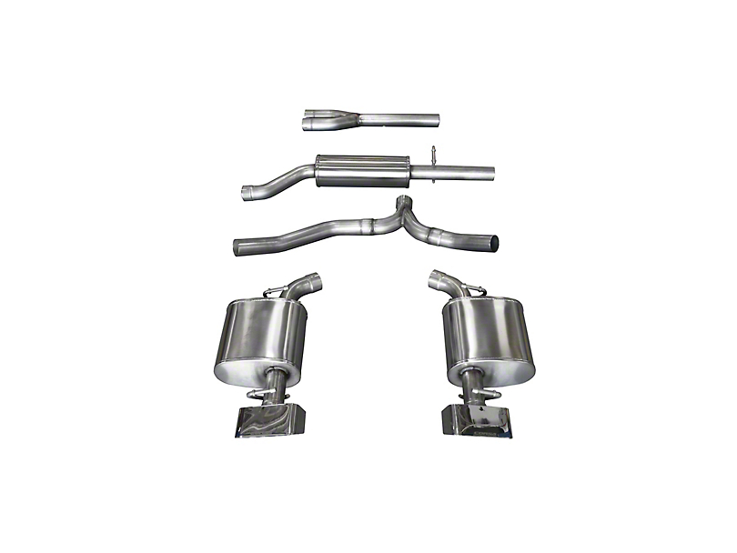 Corsa Sport Cat-Back Exhaust w/ Polished Rectangular Tips (11-14 3.6L)