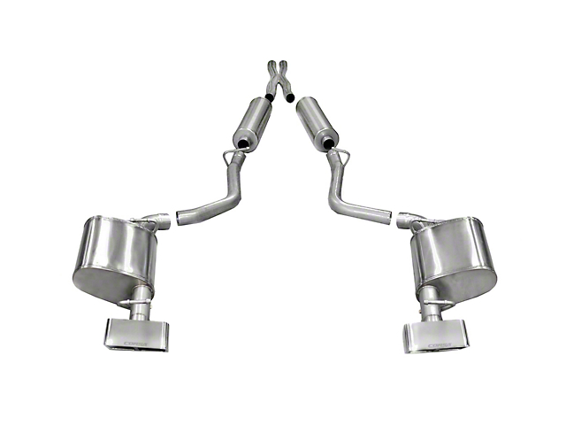 Corsa Sport Cat-Back Exhaust w/ Polished Rectangular Tips (11-14 5.7L HEMI)