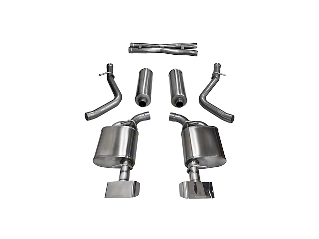 Corsa Sport Cat-Back Exhaust w/ Polished Rectangular Tips (15-16 5.7L HEMI)