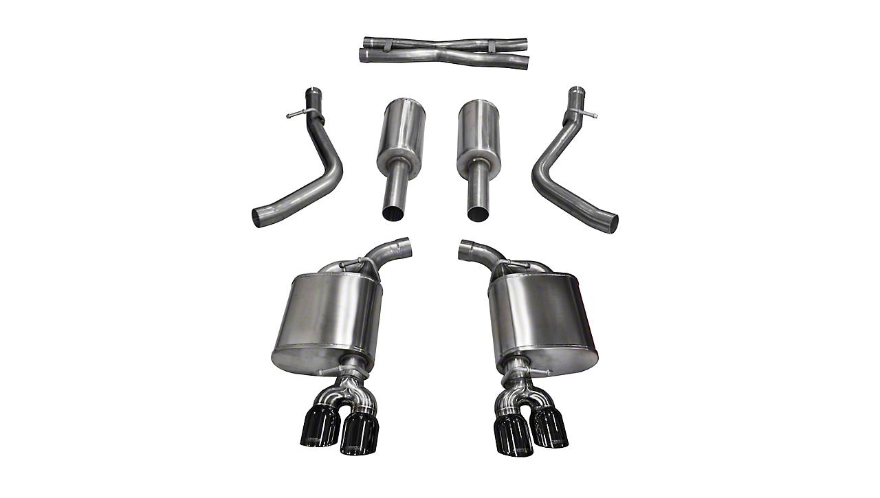 Corsa Sport Cat-Back Exhaust w/ Twin Black Tips (15-16 5.7L HEMI)