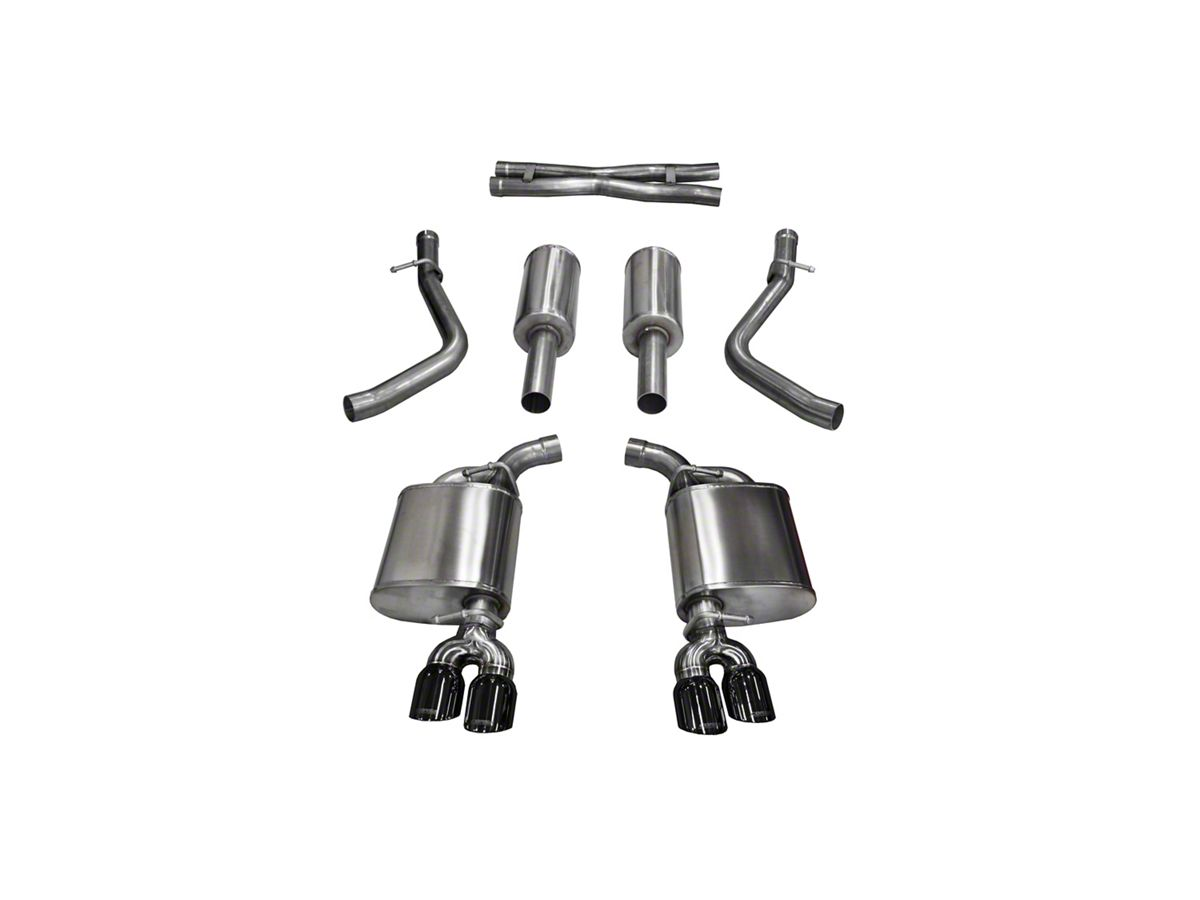 Corsa Sport Cat-Back Exhaust w/ Twin Black Round Tips (15-16 5 7L HEMI)