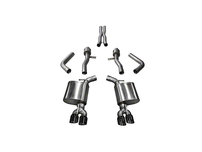 Corsa Sport Cat-Back Exhaust with Twin Black Round Tips (15-20 Hellcat)