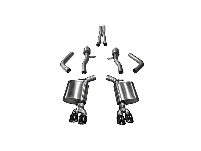 Corsa Sport Cat-Back Exhaust with Twin Black Round Tips (15-21 6.2L HEMI)