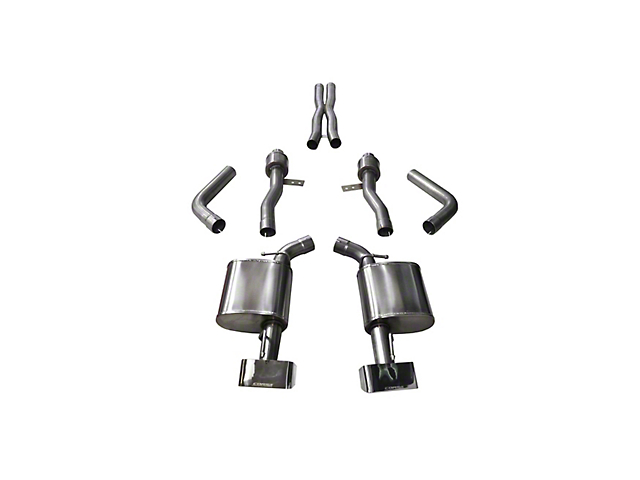 Corsa Sport Cat-Back Exhaust w/ Polished Rectangular Tips (15-19 6 4L HEMI)