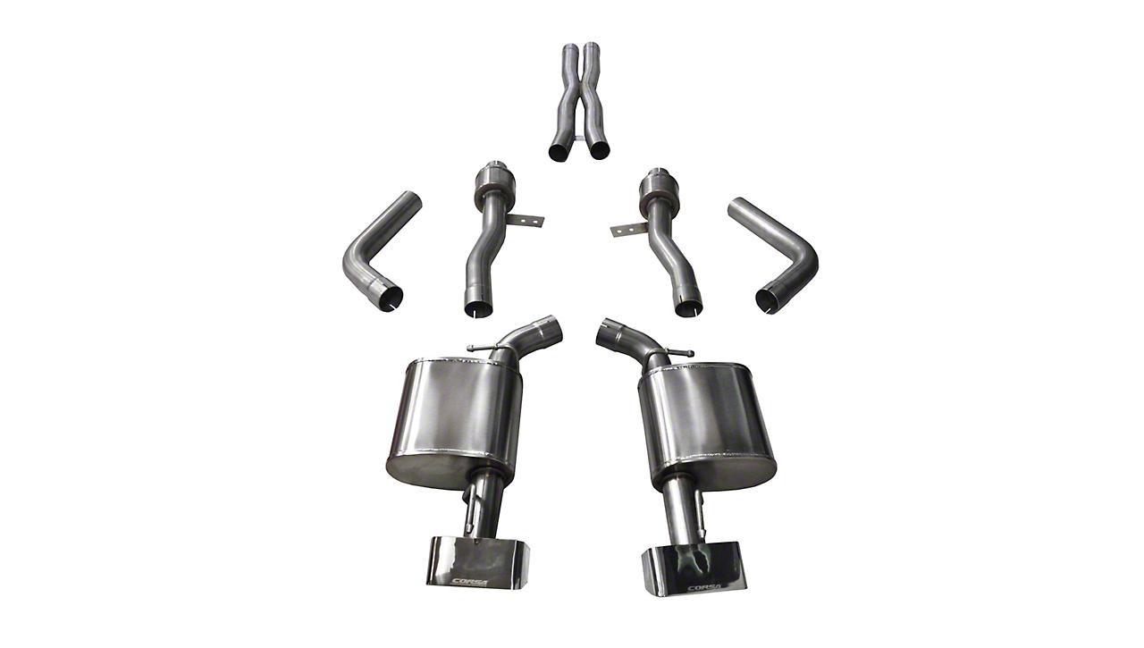 Corsa Sport Cat-Back Exhaust w/ Polished Rectangular Tips (15-19 6.4L HEMI)