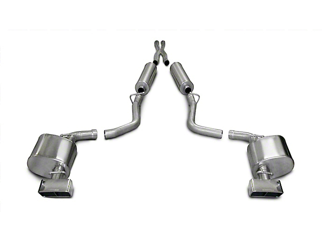 Corsa Xtreme Cat-Back Exhaust w/ Polished Rectangular Tips (09-10 5.7L HEMI)