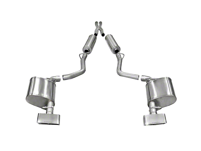 Corsa Xtreme Cat-Back Exhaust w/ Polished Rectangular Tips (11-14 5.7L HEMI)